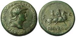 Ancient Coins - Nero Sestertius  Decursio Reverse
