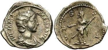 Ancient Coins - Julia Mamaea Mother of Severus Alexander, AR Denarius