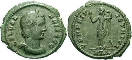 Ancient Coins - Galeria Valeria, Wife of Galerius, AE Follis