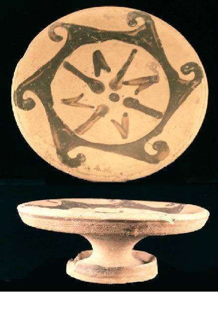 Ancient Coins - Terracotta Plate, Etruscan, Genucilia Group, c.340 BC