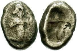 Ancient Coins - Lydia, Persia AR Siglos 486-450BC
