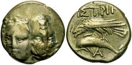 Ancient Coins - Moesia Inferior, Istrus, c. 350 BC, AR drachm