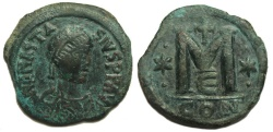Ancient Coins - Anastasius Follis AD491-518