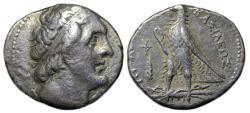 Ancient Coins - Ptolemaios II Philadelphos AR Tetradrachm : Eagle Standing