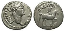 Ancient Coins - Domitian AR Denarius, Pegasus