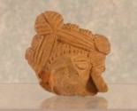 Ancient Coins - Terracotta Head - Shunga period, 3rd-1st century BC, India