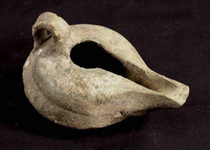 Ancient Coins - Oil Lamp, Porcelain, Nishapur, AD 900-1100