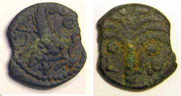 Ancient Coins - Marcus Ambibulas, Procurator under Augustus AD9-12 AE Prutah