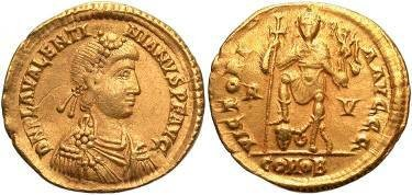Ancient Coins - Valentinian III AD 425-455, AV Solidus