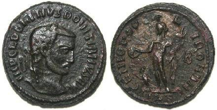 Ancient Coins - Domitius Domitianus AE Follis