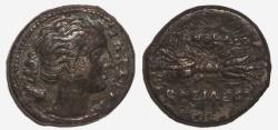 Ancient Coins - Sicily, Syracuse: Agathokles. c. 317 - 289 BC, AE Litra