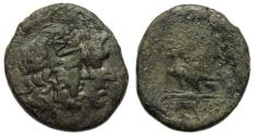 Ancient Coins - Mostis, King of Thrace : Jugate busts of Zeus and Hera / Eagle on Thunderbolt