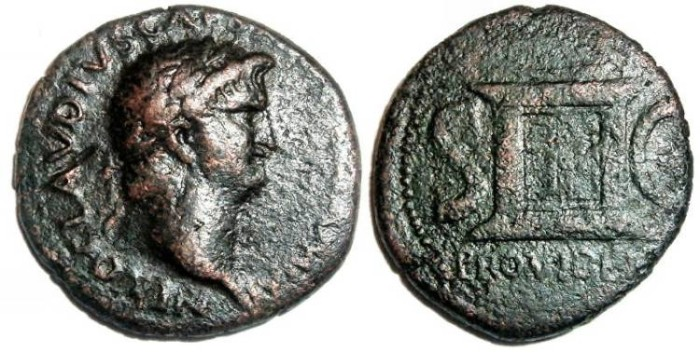 Ancient Coins - Nero Ae As : Altar : PROVIDENT