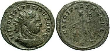Ancient Coins - Tacitus, AE Antoninianus AD 275-276