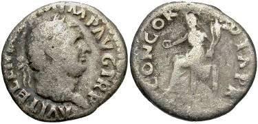 Ancient Coins - Vitellius AD 69, AR Denarius