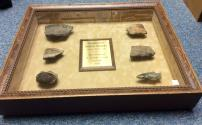 Ancient Coins - Framed Florida Apalachee Indian Shards and Artifacts