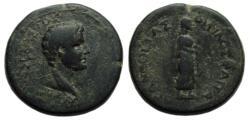 Ancient Coins - Augustus : Aegae Aeolis : Apollo Standing