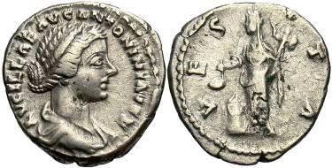 Ancient Coins - Lucilla, wife of Lucius Verus, AR Denarius