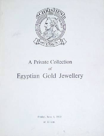 Ancient Coins - Catalog - Christie's, A Private Collection of Egyptain Gold Jewelry, June 1, 1979