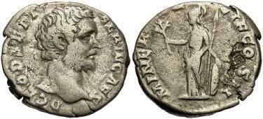 Ancient Coins - Clodius Albinus AD 196-197, AR Denarius, 3.3g, 17mm