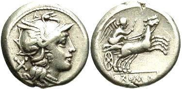 Ancient Coins - Anonymous. Ca. 157-156 BC. AR denarius