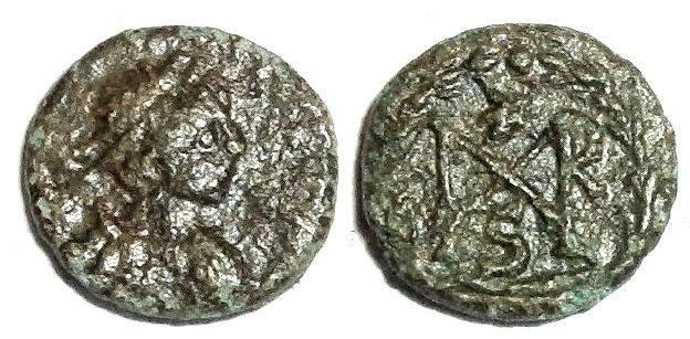 Ancient Coins - Marcian monogram 1