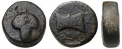 Ancient Coins - Amatokos, King of Thrace Ae ; Grape Bunch / Labrys