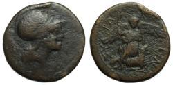 Ancient Coins - Syracuse Sicily Ae : Ares / Nike Kneeling on Ram