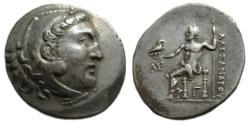 Ancient Coins - Aspendos Pamphylia AR Tetradrachm : Herakles / Zeus Aëtophoros Seated
