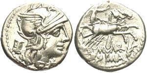 Ancient Coins - M. Marcius Mn.f., AR Denarius,   XF