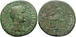 Ancient Coins - Trajan AD98-117, AE Sestertius. Struck 101-2 AD