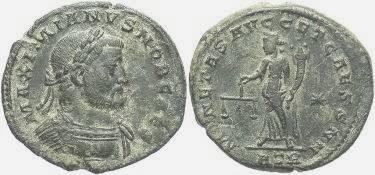 Ancient Coins - Galerius AD 305 - 311, AE Follis