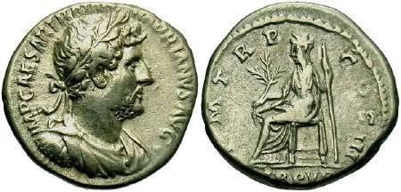 Ancient Coins - Hadrian AD 117-138, AR Denarius