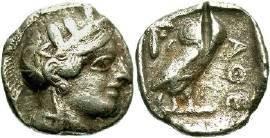 Ancient Coins - Attica, Athens,  449-413 BC, AR Old Style Tetradrachm