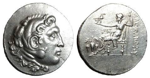 Ancient Coins - Macedonian Kingdom Alexander III AR Tetradrachm, Temnos Mint
