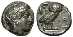 Ancient Coins - Attica Athens AR tetradrachm