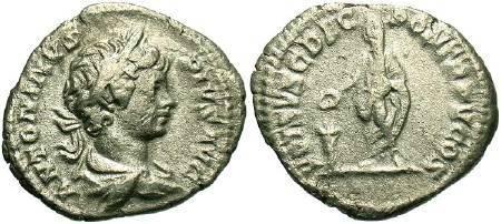 Ancient Coins - Caracalla as Caesar, AD196-198, AR denarius