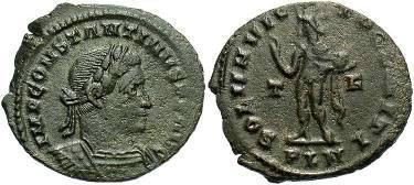 Ancient Coins - Constantine I (The Great), AD 306-337. AE Follis, London Mint