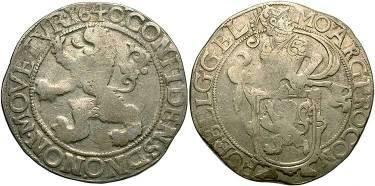 Ancient Coins - Netherlands - Holland, Lion Daalder, 1640
