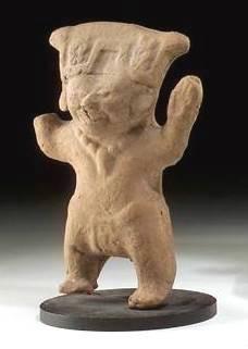 Ancient Coins - Vera Cruz Terracotta Figure, c AD 600-900