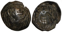 Ancient Coins - Andronicus II Palaeologus, AD 1282 to 1328 : Winged Cross / Andronicus Stg.
