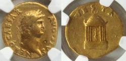Ancient Coins - Nero (AD 54-68) Gold Aureus  VF