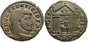 Ancient Coins - Maxentius AD 306-312, AE Follis