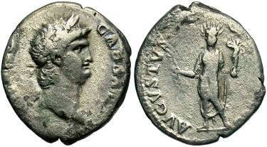 Ancient Coins - Nero Denarius, Statue of Nero