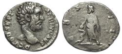 Ancient Coins - Clodius Albinus AR Denarius : COS II : Aesculapius with Serpent Entwined Staff