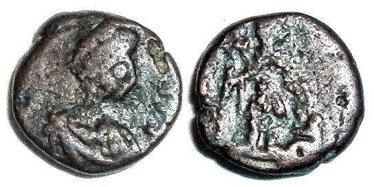 Ancient Coins - Leo I : Emperor and Captive Reverse