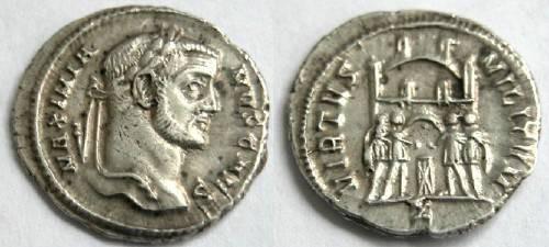 Ancient Coins - Galerius, 305-311, Silver Argenteus