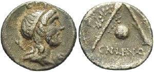 Ancient Coins - Cn. Lentulus. 76-74 BC. AR Denarius