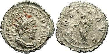Ancient Coins - Postumus AD 260-269, AR Antoninianus