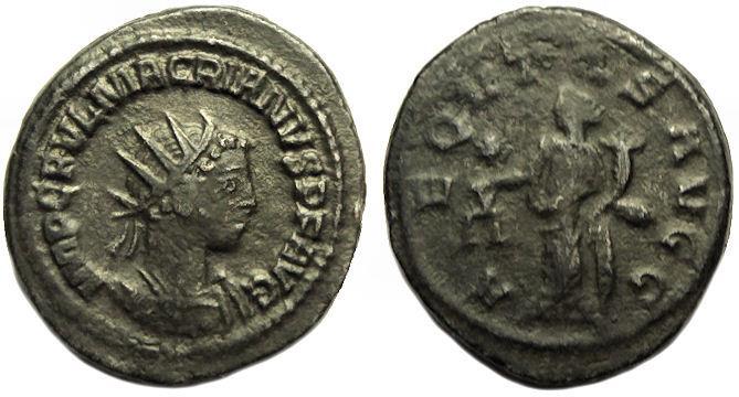 Ancient Coins - Macrianus Billon AR Antoninianus : AEQVTAS AVGG